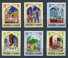 Fujeira 1967 Mi # 192 B - 197 B Fairy Tales Stamp Set MNH - Fujeira