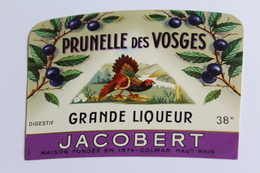 Etiquette Neuve Jamais Servie   JACOBERT PRUNELLE DES VOSGES  GRANDE LIQUEUR      Colmar - Etiquettes