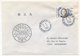 FRANCE - 1,60 Renée Lévy Obl 29N Brest D 1984 + KAIOHMARU / JHKJ / KOBE / JAPAN - Marcophilie (Lettres)