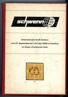 Schwenn Groß-Auktion September - Oktober 1966 - Gebundener Sonderkatalog Eines Kommissionärs Mit Widmung Von H. Schwenn - Auktionskataloge