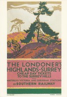 Postcard Advertising Poster Southern Railways Highland Surrey Artist Gregory Brown [ Reproduction ] My Ref  B23673 - Advertising