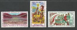"Cameroun Aerien YT 165 à 167 (PA) "" Football, Mexico "" 1970 Neuf** - Kameroen (1960-...)"