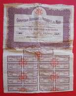 1914 RARE Coursan Aude Comptoir Agricole & Viticole Du Midi Certicat Nominatif 40 Actions Siège La Nouvelle & Coupons N1 - Agriculture