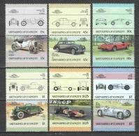 Grenadines St Vincent 1986 Mi 446-457 MNH CLASSIC CARS - Cars