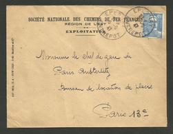 88 - VOSGES / Cachet EPINAL ENTREPOT / Enveloppe Marianne De Gandon 1947 - Marcophilie (Lettres)