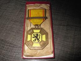 Médailles BELGE Des 3 Cités Guerre De 14/18 En Boite  Port Offert Pour La France - Belgio