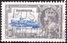 BARBADOS 1935 1.5d Ultramarine & Grey 'Jubilee'  SG242 FU - Barbados (...-1966)