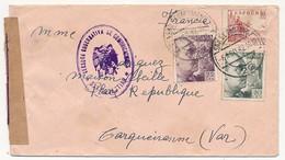 """ESPAGNE - Enveloppe Censurée """"Censura Gubernativa De Comunicaciones - SAN SEBASTIAN - 1942 - 1931-Aujourd'hui: II. République - ....Juan Carlos I"""