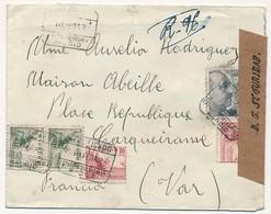 "ESPAGNE - Enveloppe Censurée  De Madrid, Bande ""D.G. Seguridad Madrid"" 1942 - 1931-50 Briefe U. Dokumente"