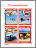 GUINEA BISSAU 2019 MNH Helicopter Hubschrauber Mail Transport M/S - OFFICIAL ISSUE - DH1924 - Helicopters