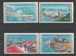 "Cameroun Aerien YT 182 à 185 (PA) "" La Pêche "" 1971 Neuf** - Kameroen (1960-...)"