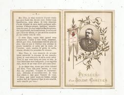 Image Religieuse , Pieuse , 4 Pages ,  Militaria ,  Pensées D'un SOLDAT CHRETIEN ,vie Du Général DE SONIS , 2 Scans - Santini
