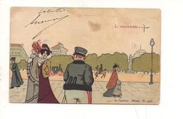 P101 Umoristica L'impenitente 1901 Guarneri Milano Viaggiata Francobolli Strappati - Humor
