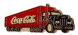 C74 - SEMI REMORQUE COCA COLA - Bouteille Foncée Et Claire - Verso : C 1990 THE C.C.C. / MADE IN TAIWAN - Coca-Cola