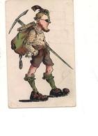 P104 Umoristica ALPINISTA 1908 Viaggiata - Humor