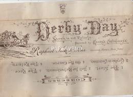 Derby Day By George Cruikshank  6 Reliefs   Egc530 - Animals