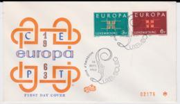 Luxembourg  1963 FDC Europa CEPT (SKO13-16) - Europa-CEPT