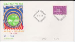 Finland 1963 FDC Europa CEPT (G84-117) - Europa-CEPT