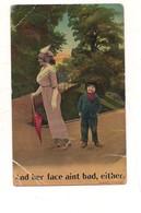 P108 UMORISTICA SERIE 2087 BAMFOTH 1913 VIAGGIATA - Humor