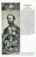 Catalans Ilustres Don Joan Prim Nacido En Reus Bruch Castillejos ..Catalan. Dorso No Dividido - Sonstige