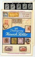 161. Köhler Briefmarken Auktion 1959 - Auktionskatalog Mit Den Bildtafeln - Auktionskataloge