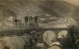 #230619 - RARE CARTE PHOTO - 69 COURZIEU LA GIRAUDIERE BRUSSIEU Mines De Charbon - Vue Générale Pont Carrières De Rossan - Frankreich