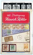 162. Köhler Briefmarken Auktion 1960 - Auktionskatalog Mit Den Bildtafeln - Auktionskataloge