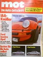CA132 Autozeitschrift Mot Auto-journal, Nr. 19/1977, Porsche Turbo 3.3, Neuwertig - Automóviles & Transporte