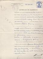 Argentina. 1963. Marche Da Bollo Su Certificato Di Nascita - Argentina