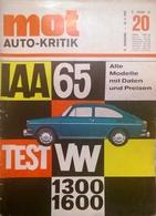CA139 Autozeitschrift Mot - Auto-Kritik, Nr. 20/1965, Test VW 1300 Und 1600 - Automóviles & Transporte