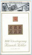 169. Köhler Briefmarken Auktion 1962 - Auktionskatalog Mit Den Bildtafeln - Catalogi Van Veilinghuizen