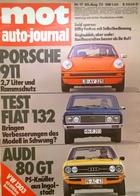 CA140 Autozeitschrift Mot Auto-journal, Nr. 17/1973, Porsche 911 2.7, Neuwertig - Auto & Verkehr