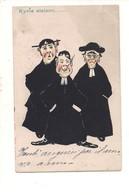 P113 UMORISTICA PRETI KYRIE ELEISON 1903 VIAGGIATA - Humor