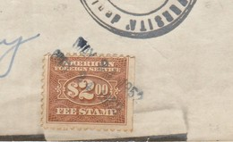 Stati Uniti. 1952. Marca Da Bollo Su Documento - Estados Unidos