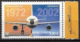 France 2002 Poste Aérienne N° 65a Bird De Feuille, Airbus A300, à La Faciale +10% - Poste Aérienne