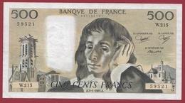 """500 Francs """"Pascal"""" Du 03/01/1985.A ----VF/SUP--ALPH.W.215 - 1962-1997 ''Francs''"""