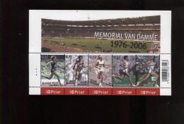 Belgie Blok Feuillet BL129 Athletics Sports Memorial Van Damme PLAATNUMMER 4  Onder Postprijs Sous Faciale !! - Blocks & Sheetlets 1962-....