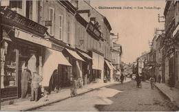 36 - CHATEAUROUX  - Rue Victor Hugo - Vue Animée, Librairie Georges Bonnet - Chateauroux