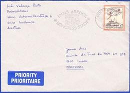 Cover Priority - Innsbruck To Lisbon, Portugal / Postmark - INNSBRUCK, 1999 - 1945-.... 2a Repubblica