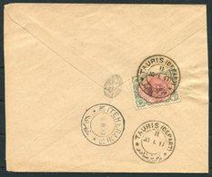 1917 Persia Ahmad Shah 6ch Cover. Tauris - Teheran - Iran