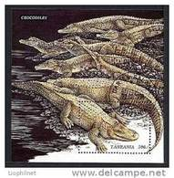 TANZANIE 1996, CROCODILES, 1 Bloc, Oblitéré / Used. R627 - Reptiles & Batraciens