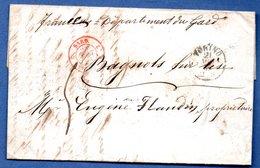 Lettre / Départ Turin   /  13 Août 1856 - Affrancature Meccaniche Rosse (EMA)