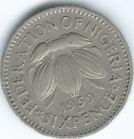 Nigeria - Federation - Elizabeth II - 1959 - 6 Pence - KM4 - Nigeria