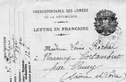 L-  Correspondance Des Armées-- Allégories-- - Cartes De Franchise Militaire