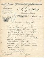 Lettre 1907 / 45 PITHIVIERS / A. GEORGES / Appareils De Laiterie & Installation / Malaxeurs,diviseurs,machines à Engrais - France