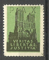 SCHWEIZ Switzerland Vignette Werbemarke Pax Veritas Libertas Justitia Cathedrale * - Kirchen U. Kathedralen