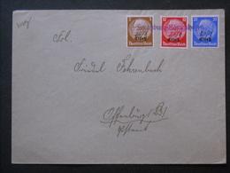 WW II - Brief Elsass In MIF Mi.1,7 U.10, Aushilfsstempel Strassburg-Königshofen Und Hanschriftlicher Datumsvermerk (726) - Germany