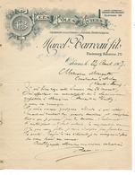 Lettre 1907 / 45 ORLEANS / M. BARREAU / Fers, Tôles, Aciers, Charbons Pour Forges Et Foyers Domestiques - France