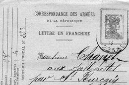 """L- --Correspondance Des Armées---""""Médaillon- Semeuse"""" - Cartes De Franchise Militaire"""
