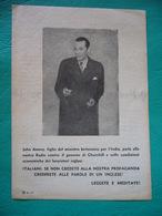 1944  CREDETE ALLE PAROLE DI UN INGLESE    RARO VOLANTINO MILITARE PUBBLICITARIO REPUBBLICA SOCIALE - 1939-45